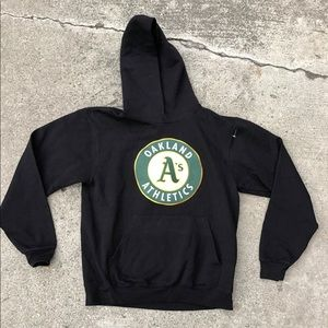 Vintage mlb Oakland Athletics big logo hoodie